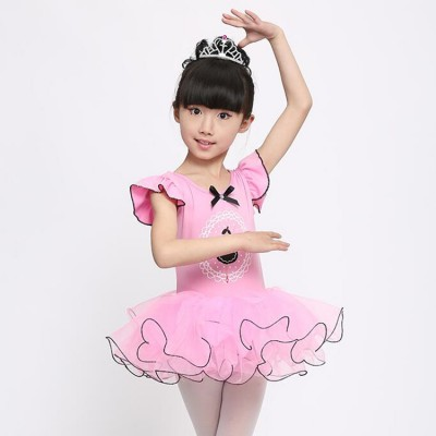 Ballet Dance Dress For Children girls cotton pink purple Tutu Skirt Ballet Leotard Ballerina Dresses Kids Ballet Costume Clothes For Girl