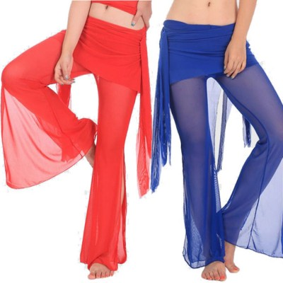 Belly dance pants women's female red royal blue black stage performance competition gymnastics practice belly dance pants costumes