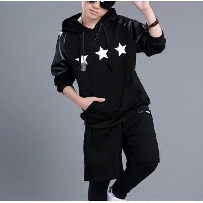 Black fashion school play boys girls hip hop jazz performance competition dance outfits costumes