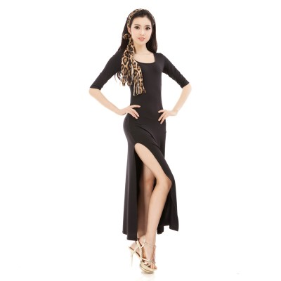 Black Hot-sale Rumba Jive Chacha Ballroom Latin Dance Dress Girls Women ,Women Latin dance,latin dress
