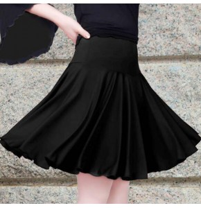 Black red 56-90cm Waist Dance Sport Dresses Girls Latin Skirt Salsa Clothes Women Samba Costumes Tango Dance Wear For Sale