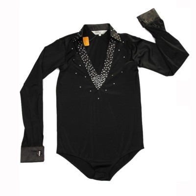 Black red Boy's Latin Dance Shirt Classical Latin Ballroom Dancing white Colors 110-160cm Wholesale waltz shirt chacha