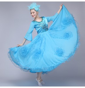 Blue Women's cosplay costume fairy ancient clothes classical dance costume Spanish dance