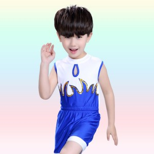 boys girls jazz dance costumes Kids children cheerleader performance school competition costumes soccer sports exercises outfits