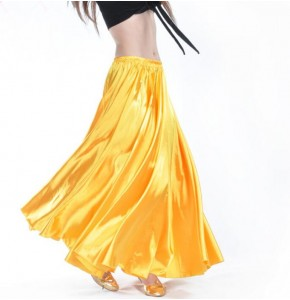 brand new  silk satin skirt belly dance skirt belly dance skirts big skirt Spain