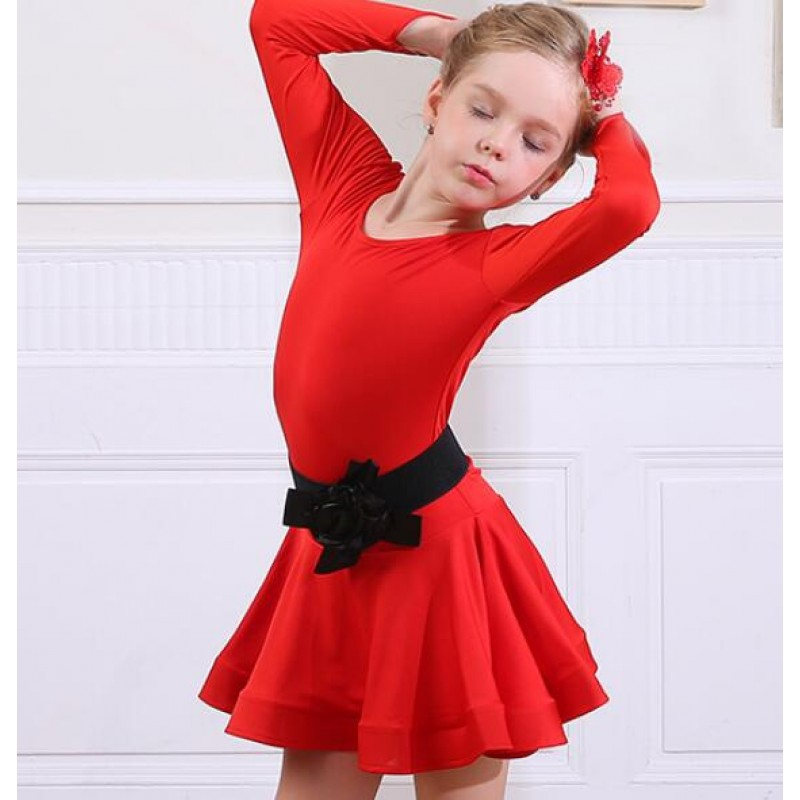 ab8f489deb ... best wholesaler 7134f d8f76 Children Black red latin dresses girls kids  children stage performance competition latin ...