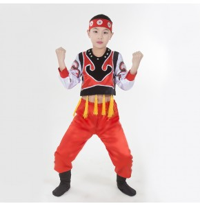 Children Chinese national Ethnic minority costume dance performance clothes Mongolian national Dance costume mongolian robe