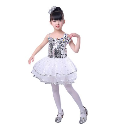 Children jazz dance costumes sequined kindergarten princess girls modern dance singers dancers stage performance outfits