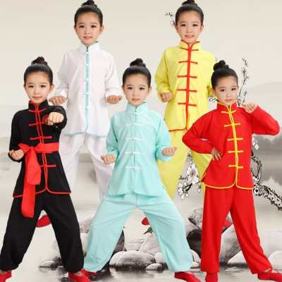 Children kungfu Wushu Costumes boys girls New Youth  martial Tai Chi students Kung Fu performance clothing uniforms