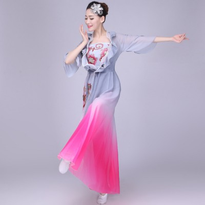 China Chinese folk dance costumes for female competition china drama film traditional ancient fairy photos cosplay dance dresses