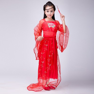 Chinese traditional folk dance costumes for girls performance  princess fairy  film cosplay photos robe dresses