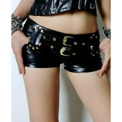 Club Wear Shorts Women PVC Patent Leather Micro Mini Shorts Pole Dance/Disco/Jazz Dance/Hip-hop Hot pants shorts
