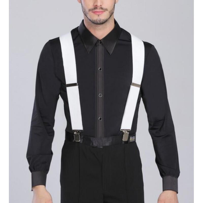Mens Short Sleeve Dance Shirt Ballroom Dancing Latin Salsa Tango Modern Jazz Top