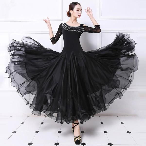 Custom size stones Ballroom Competition Dance Dress Women Tango ...