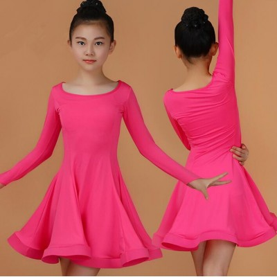 Girls ballroom dresses children kids gymnastics performance ballroom latin salsa chacha dance dresses