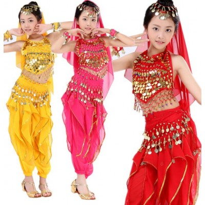 Girls Belly Dance Costume Child Bollywood Dance Costumes Belly dancer Children Indian Clothing Dresses Kids Bellydance