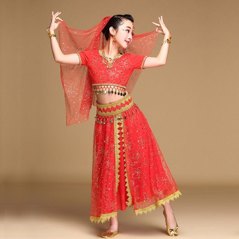 a2f4f1927 Girls belly dance dresses performance kids children indian ...