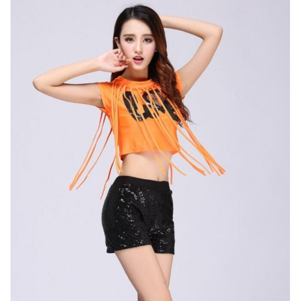 girl s hip hop street dance outfits female women s stage