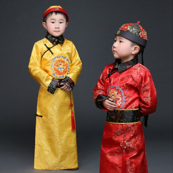 Gold Hanfu Dress Ancient Chinese Traditional Costume Men for Kids Boys Hanfu Cosplay Child Clothing Tang  sc 1 st  Wholesaledancedress.com & Gold Hanfu Dress Ancient Chinese Traditional Costume Men for Kids ...