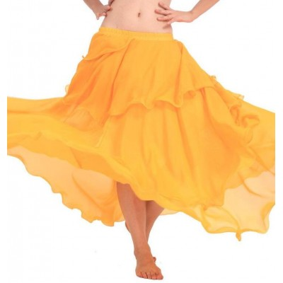 Hot Popular Cheap Belly Dance Beautiful Skirt Chiffon for Women Belly Dancing Costume on Sale