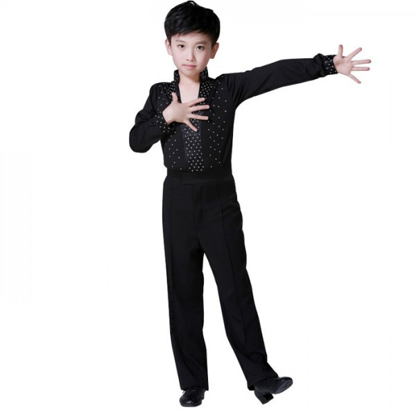 Hot Sale Boy Latin Dancewear White Black rhinetones Ballroom Stage Modern Boys Latin Dance Costumes Clothes  sc 1 st  Wholesaledancedress.com & Hot Sale Boy Latin Dancewear White Black rhinetones Ballroom Stage ...