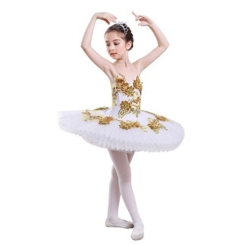d2bdcb5fd0ce ... Kids ballet tutu dresses professional girls white swan lake platter  pancake competition tutu dresses