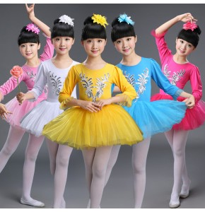 Kids ballet tutu skirt ballet dresses for girls school competition gymnastics performance cosplay skating swan lake dancing leotards dresses
