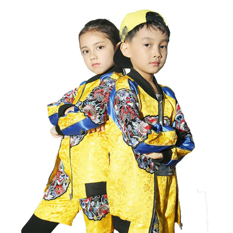 e75d9f0a63a0 Kids hiphop street dance costumes modern dance show performance china  dragon style competition photos cosplay costumes