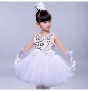 kids jazz dance dresses  robe de danse jazz pour filles stage performance princess modern dance school competition dresses