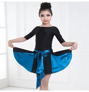 Kids latin dance dress for girls children ballroom performance gymnastics leotards tops and skirt dance dress