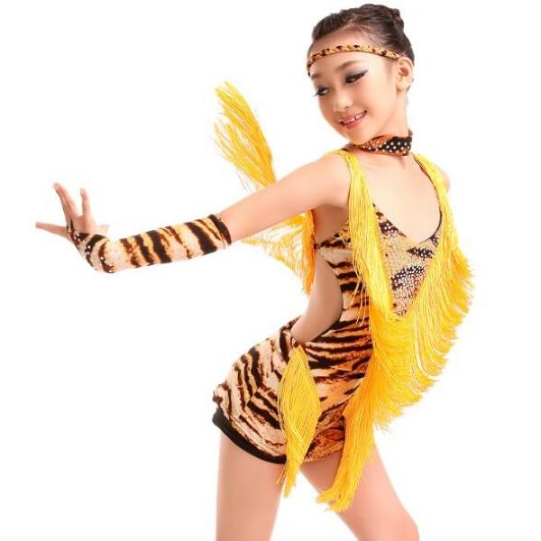 0bc243cc1a4a Latin Dance Dress For Girls Samba Dress Ballroom Dancing Dress Girl ...