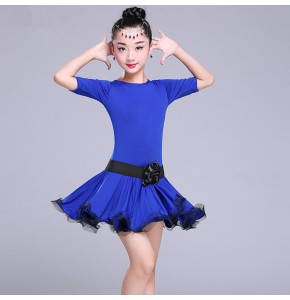 Latin dance dresses for girls kids children stage performance competition salsa rumba samba dresses