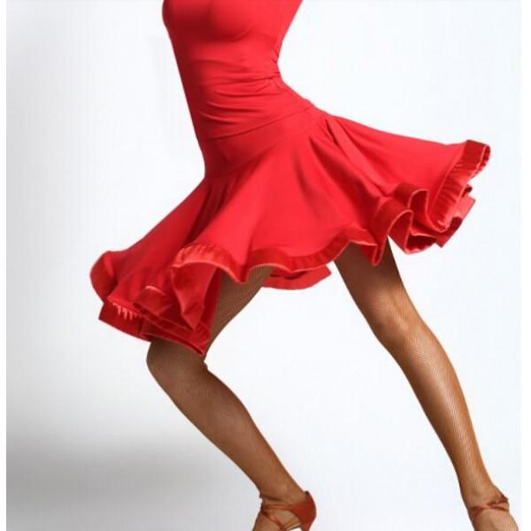 68bee6ddadec Latin Salsa Tango Rumba Cha Cha Ballroom Dance Dress Skirt Square Dance  Purple Black red Clothes Women Latin Dance Dress- Material : Microfiber and  ...