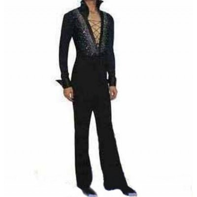 Male Latin dance costume adult child Latin dance set competition clothing long-sleeve topand pants