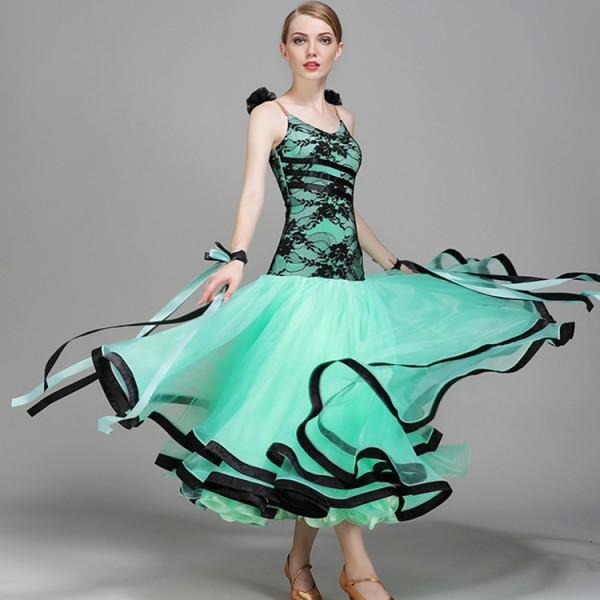 Mint light pink lace patchwork spaghetti women\\\'s girl\\\'s ...