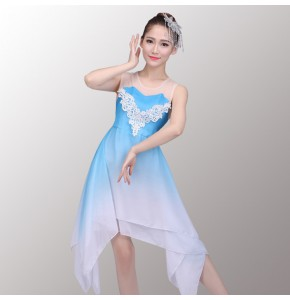 Modern ballet dance dresses women's female competition stage performance ballet modern dance dresses costumes