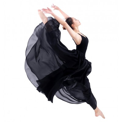 Modern dance ballet dance skirts women's female competition gymnastics performance ballet modern dance long skirts 540degree