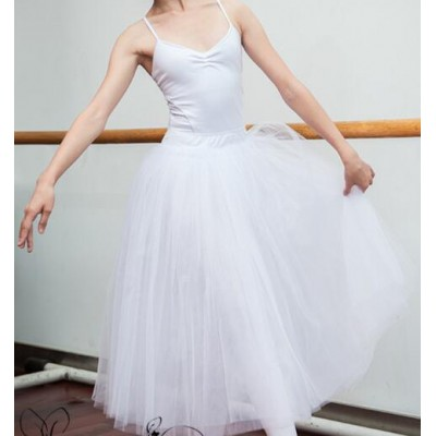 New adult straps ballet dance dress children girls professional tutu dress costumes for women