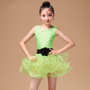 New Latin dance children 's dress fuchsia hot pink children' s dance practice uniforms girls Latin practice test uniforms