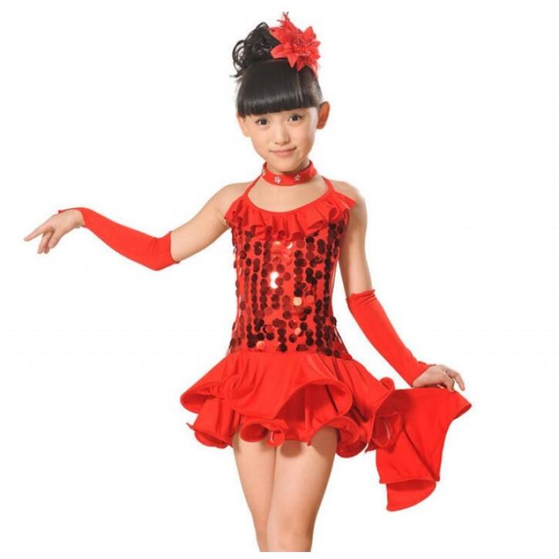 Toddler Girl Ballet Tutu Dress Jazz Latin Dance Costume Sequin Leotard Dancewear