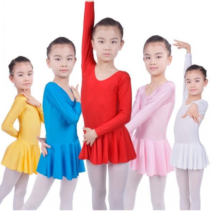 Girls Long Sleeve Leotard Ballet Tutu Dress for Dance