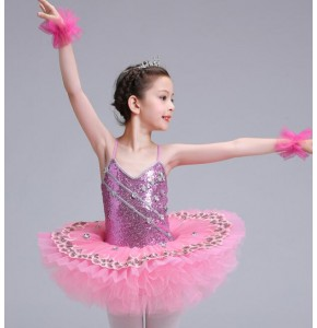 Pink turquoise blue children competition  pancake classical Party Costume Cosplay Girls Ballet Tutu Dress Tutu Ballet Dance Leotard Dress