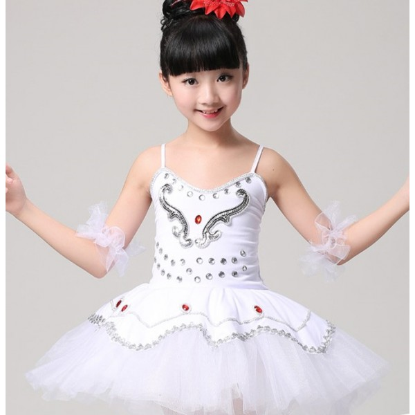 Professional Ballet Costumes For kids White/Blue/Pink Swan Lake Ballet Costume For Girls  sc 1 st  Wholesaledancedress.com : kids ballet costumes  - Germanpascual.Com