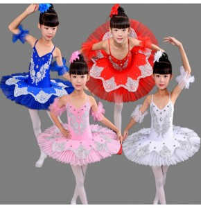 Professional Ballet Tutus Blue white pink swan lake Ballet Dance costume children  girl's kids  Costume Tutu Dance Leotard Girls Ballet Dresses