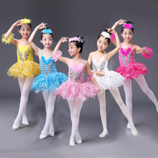 dab1a121e Ballet Costume Tutus   FEESHOW Girls Sequins Camisole Ballet Dress ...