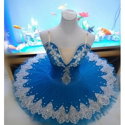 Red blue purple Perfect Quality plate pan Ballet dress Woman Tutu professional Hot Sale Hard yarn Puff dress