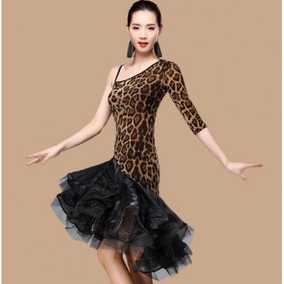 cb9c78fe96d Red blue Women Latin Dance Dress Women Ballroom Dancing Dresses Latin Dance  Costume Dance Latin Dresses