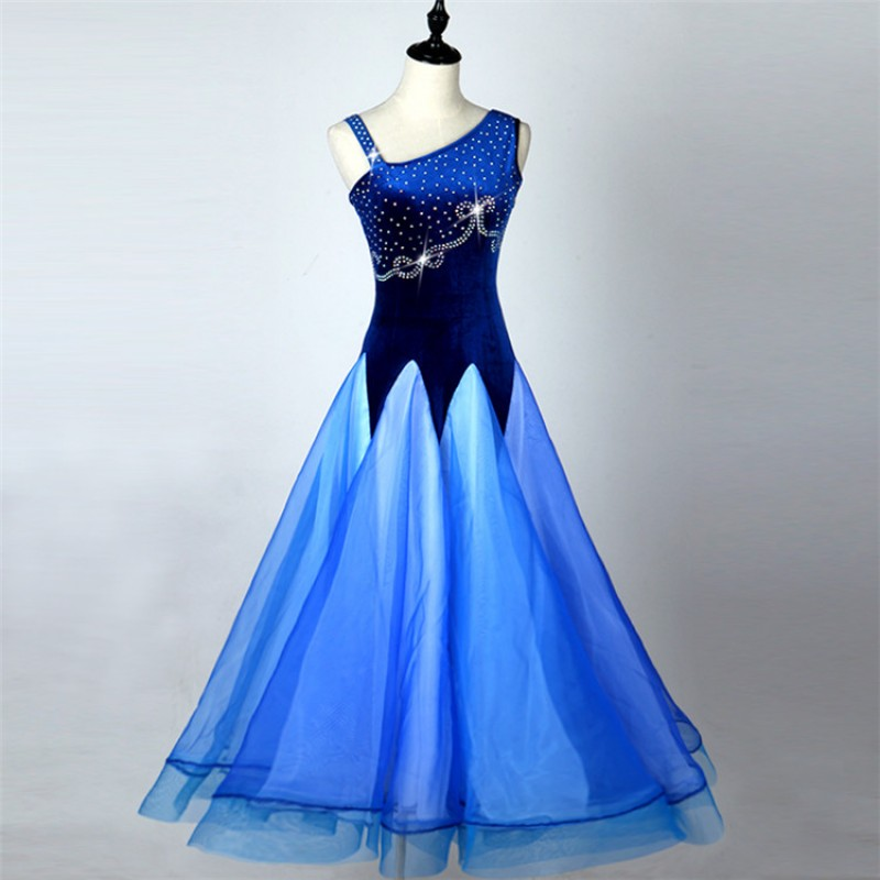 One Shoulder Ballroom Dress