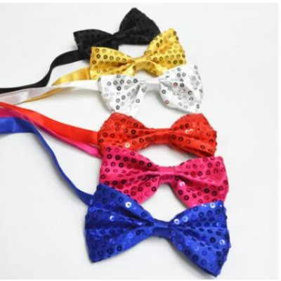Sequined boy's dance kids children jazz dance modern dance stage performance cosplay accessories neck bow tie