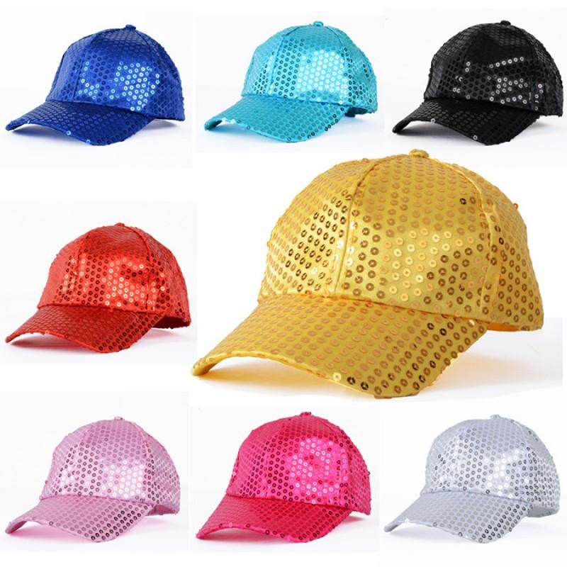 Fashion Women Mens Jazz hat Sequined Hat Dance Stage Show Performances Hat Cap